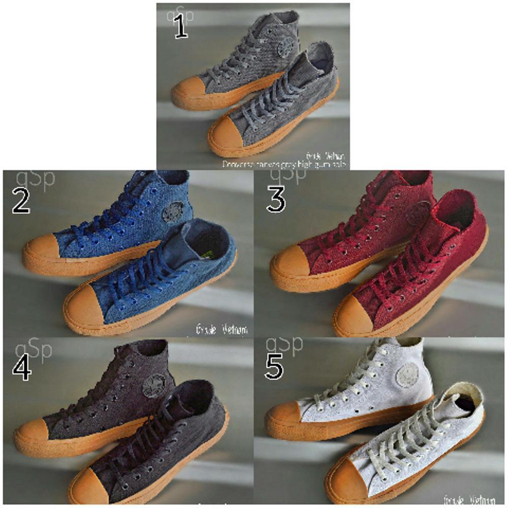 Jual sepatu converse canvas sol gum high Fashion