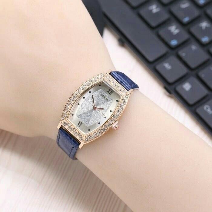laris jam tangan best seller guess wanita / jtr 1095 biru