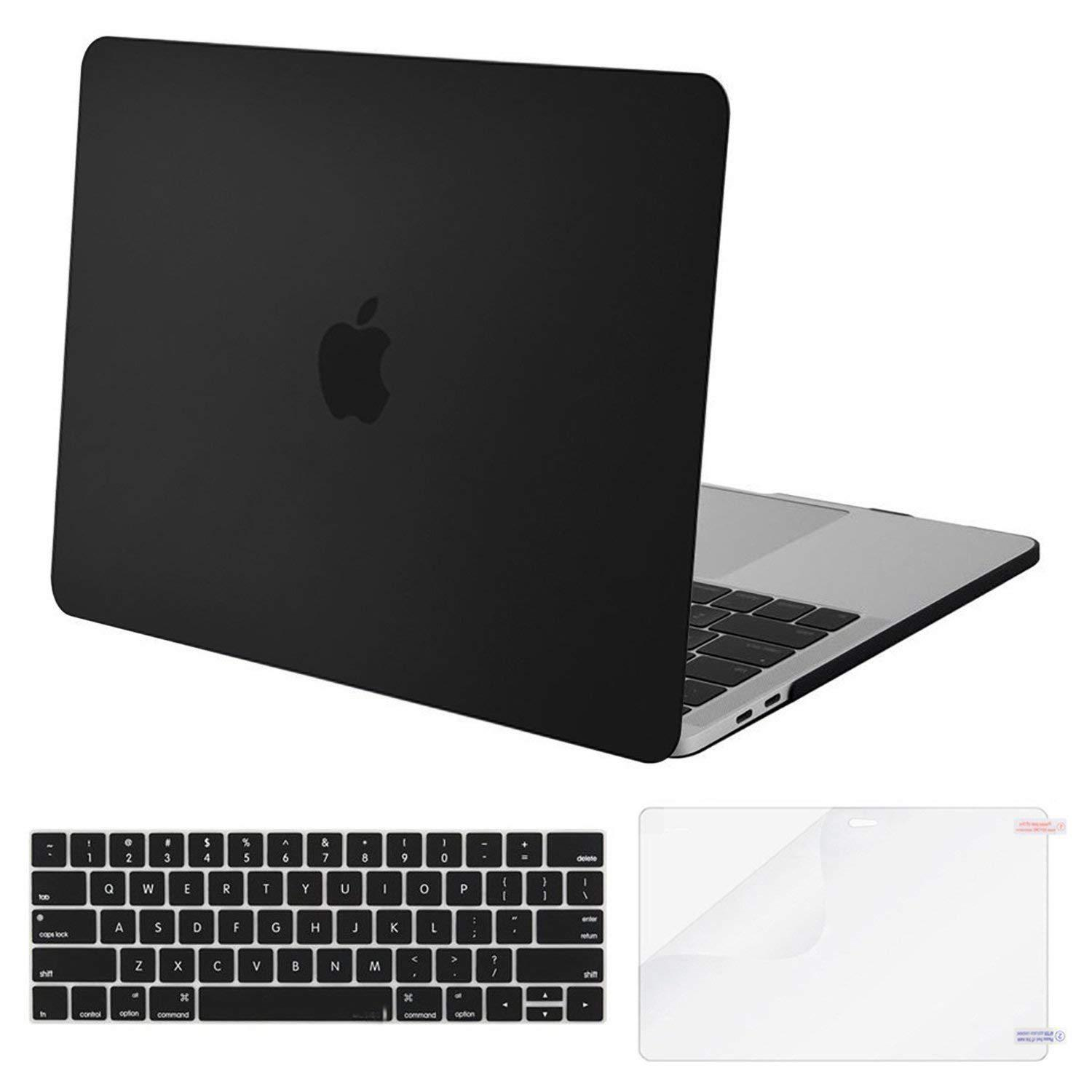 MacBook Pro 13 Case 2018 2017 2016 Release A1989/A1706/A1708 Plastic  Hard Case & Keyboard Cover & Screen Protector Compatible Newest Mac Pro 13 (2018 2017 2016 Release)