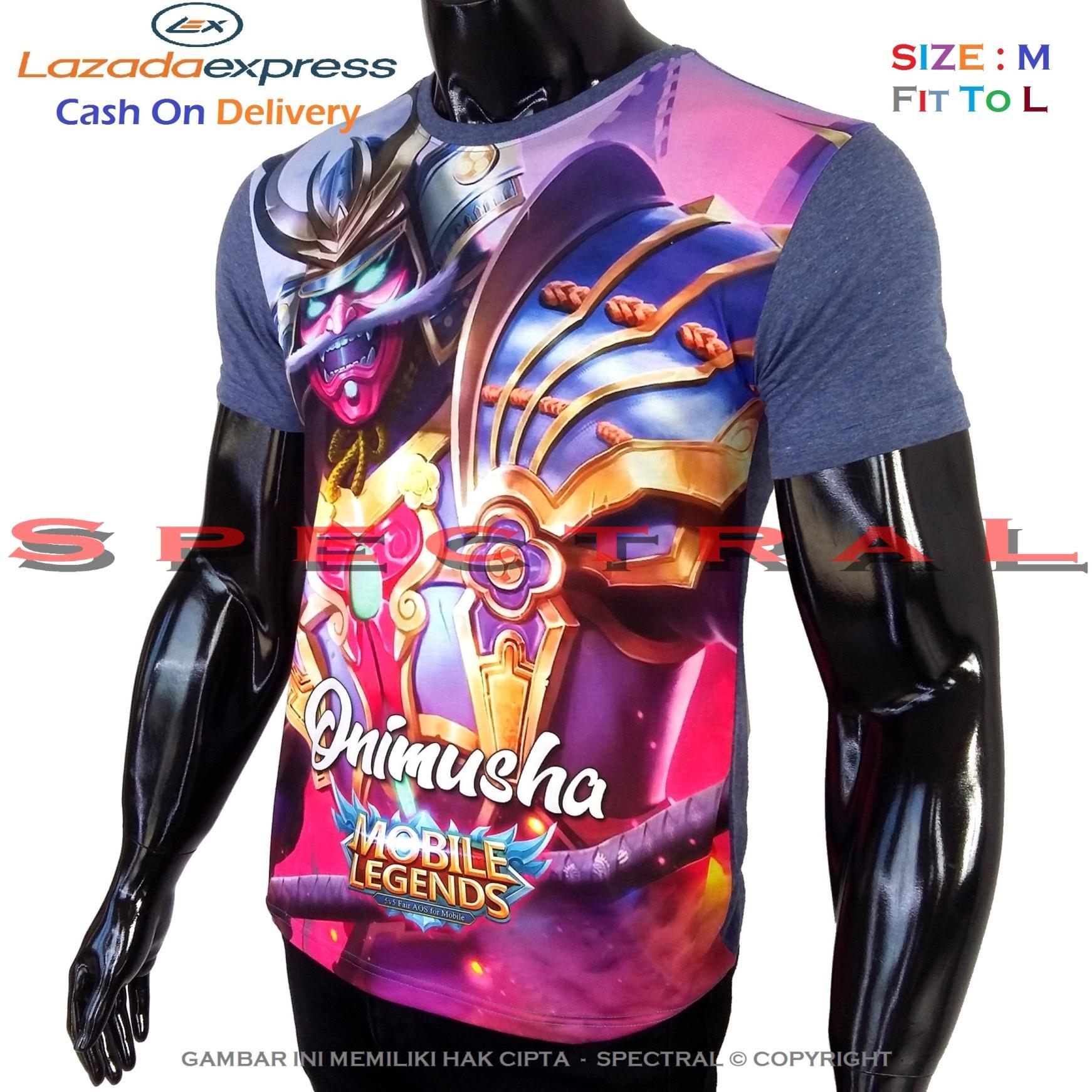 Spectral – 3D ONIMUSHA Mobile Legend Kualitas HD Printing Size M Fit To L Soft Rayon Kaos Distro Fashion T-Shirt Atasan Baju Pakaian Polos Pria Wanita Cewe Cowo Lengan Murah Bagus Keren Jaman Kekinian Jakarta Bandung Gambar Game Mobilelegend Legends Japan