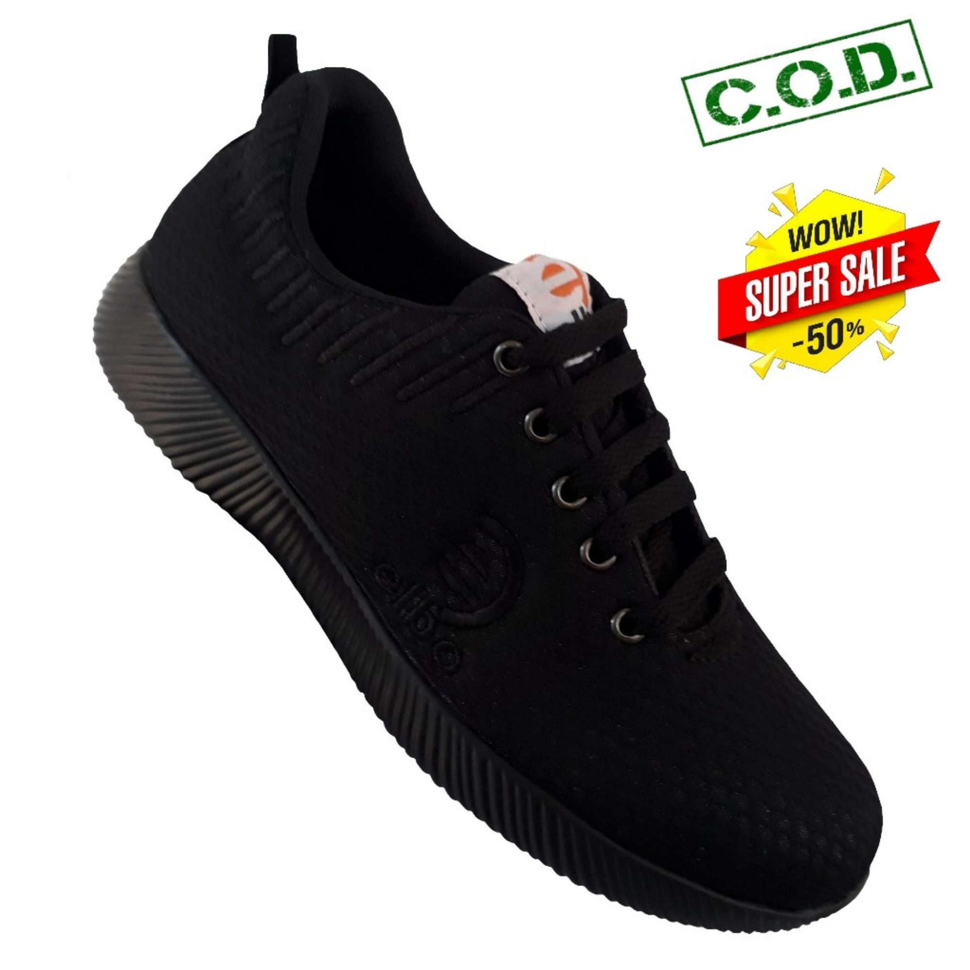Sepatu Pria Sport/Sepatu Sneakers/Sepatu Kets/Sepatu Sekolah Casual - Hitam