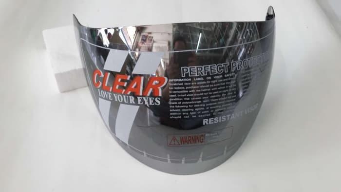 Kaca helm Ink Centro/KYT DJmaru warna Silver merk CLEAR Terlaris di Marketplace Lazada