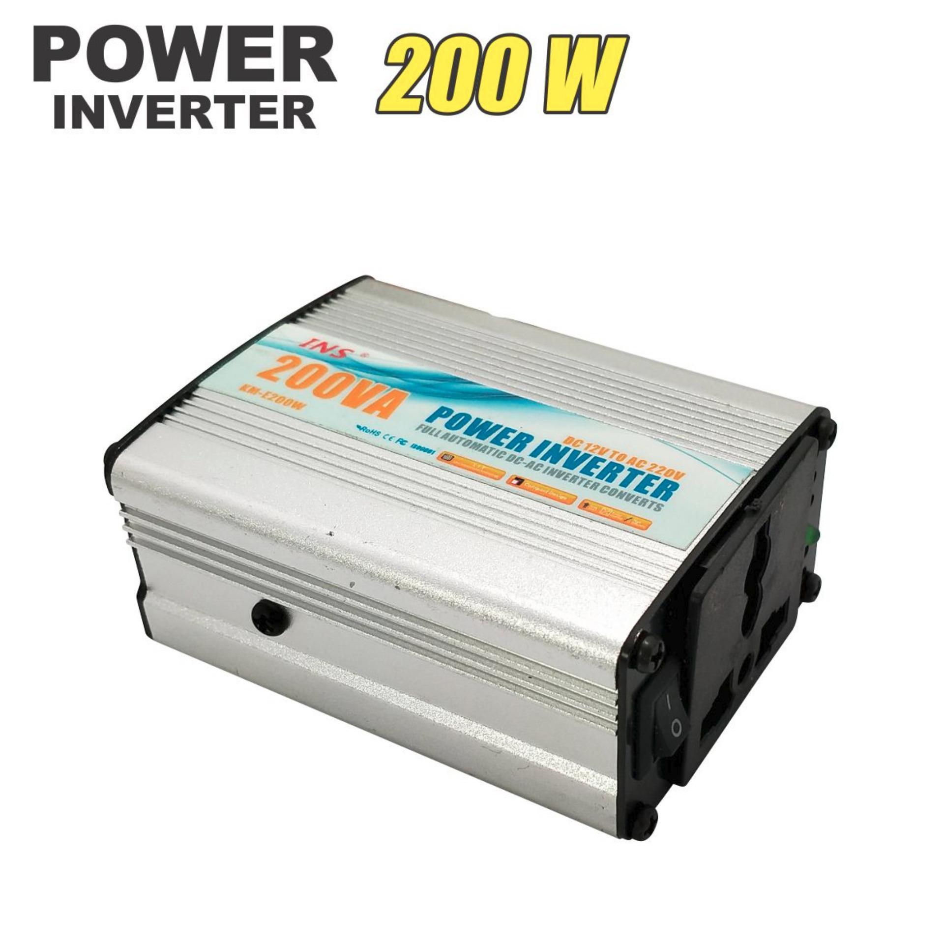 WEITECH Power Inverter 200 W Inverter Daya Puncak Port DC 12 V untuk 220 V AC Pengonversi Mobil-Intl