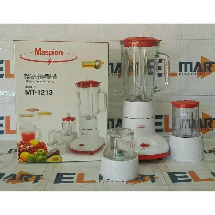 Hemat 10%!! Blender Kaca Maspion 3 In 1(Mt-1213) - ready stock