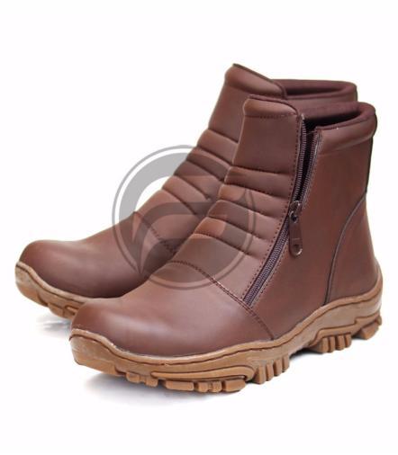 Frandeli - Elastico Work   Safety Boots Sepatu Pria Kerja Zipper 3e999c671e
