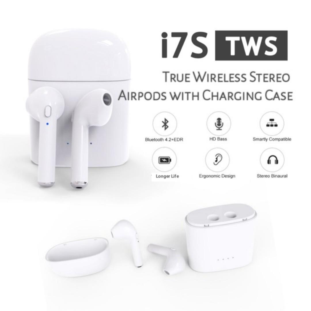 Headset/Hedset Bluetot/Bluetooth/Wirles Compatible For Airpods/Android i7s V4.