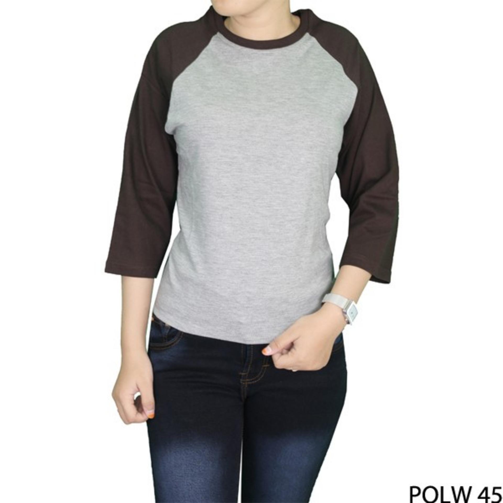Gudang Fashion - Kaos Polos Wanita Lengan 3/4 - Aneka Pilihan Warna