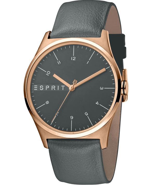 Esprit - Jam Tangan Pria - Rosegold-Grey - Strap Grey - ES1G034L0035 493e080369