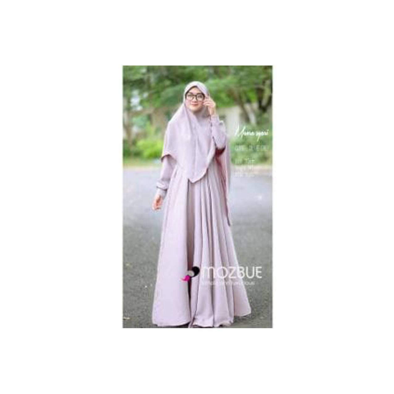 Gamis Syari Elegan Mewah Busana Muslim Wanita Modern MAORA Ori Limited