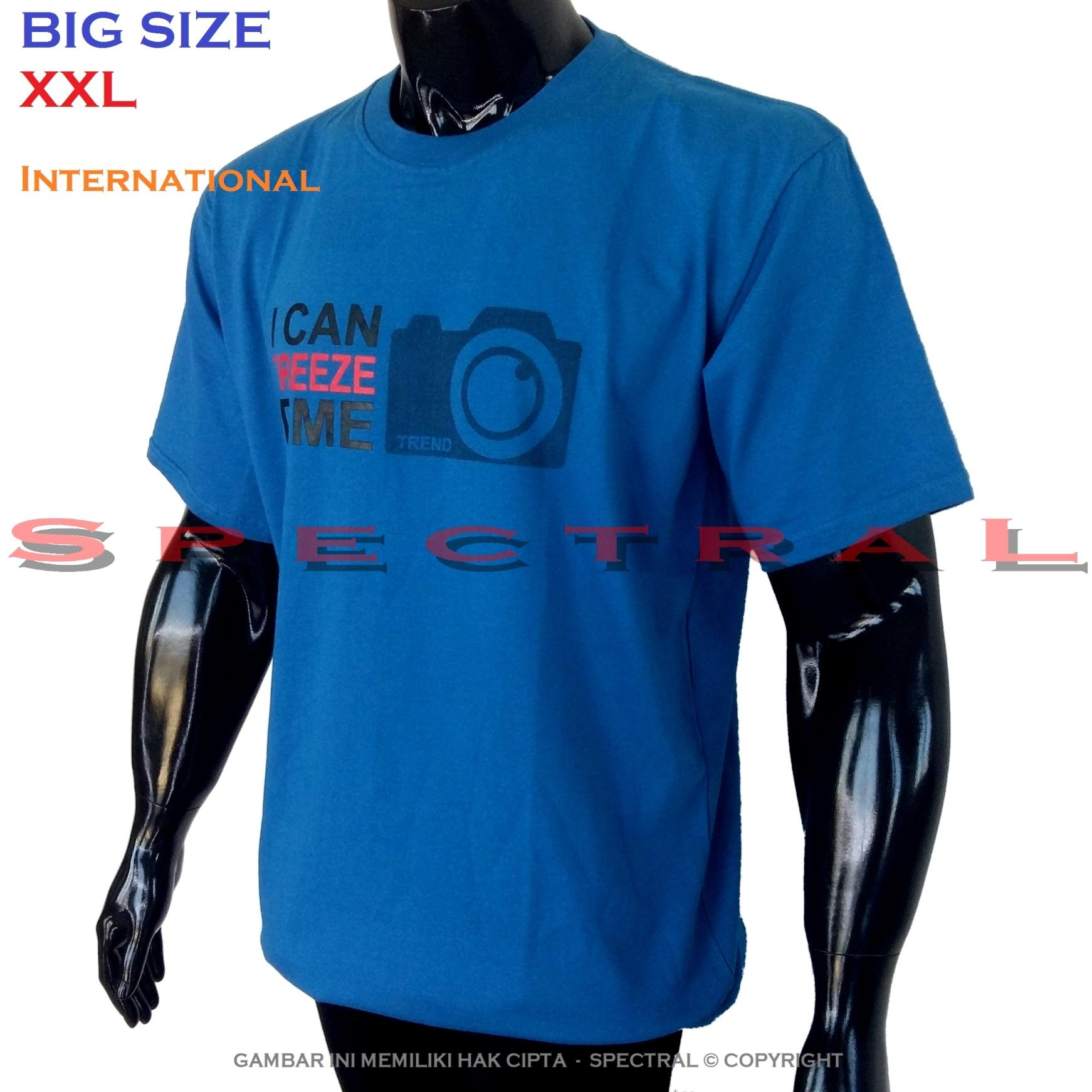 Spectral – BIG SIZE XXL INTERNATIONAL 100% Soft Cotton Combed Kaos Distro Jumbo BIGSIZE T-Shirt Fashion Ukuran Besar Polos Celana Atasan Pria Wanita Katun Bapak Orang Tua Gemuk Gendut Lengan Simple Sport Casual 2L 2XL Baju Cowo Cewe Pakaian Terbaru I CAN