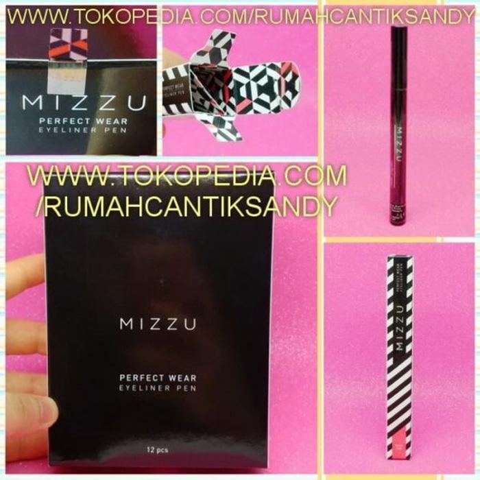 MIZZU Eyeliner BLACK - HITAM MIZU Mascara Waterproof BPOM BULU MATA
