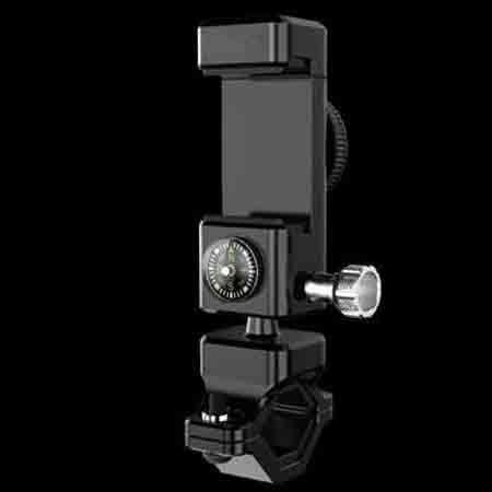 Clamp Smartphone 360 Derajat Aluminium untuk Stang Sepeda/Motor - Black