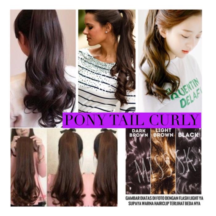 Pony Tail Wavy / ponitail wave / hair pony tail wave / Termurah !! ponytail jepit wave / hair clip - Rambut