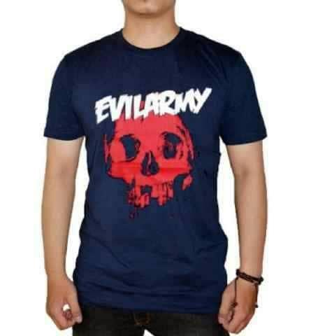 Sedang Diskon!! Kaos Hitam Evil Army 01 - ready stock