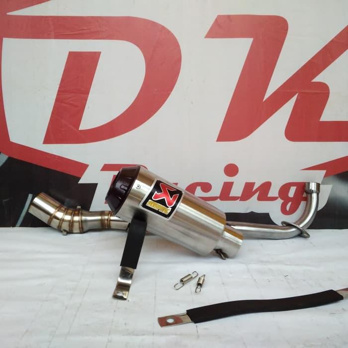 Knalpot Racing Yamaha Jupiter Z Akrapovic Monster Black Series By Dk Racing Bekasi.