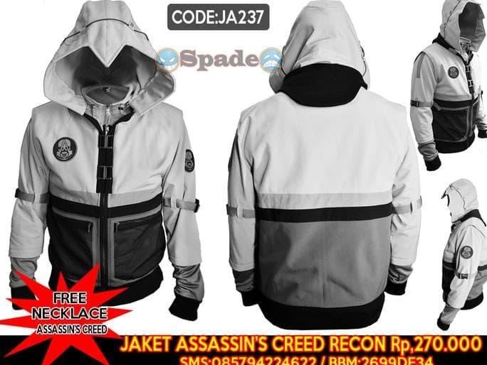 HARGA PROMO!!! Jaket Assassin Creed Recon,Assasin Creed Hoodie Parasut (Spade Anime)