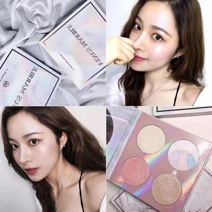 Diskon!! Venus Marble Highlighter Pallete Best Seller By Mta Doa.