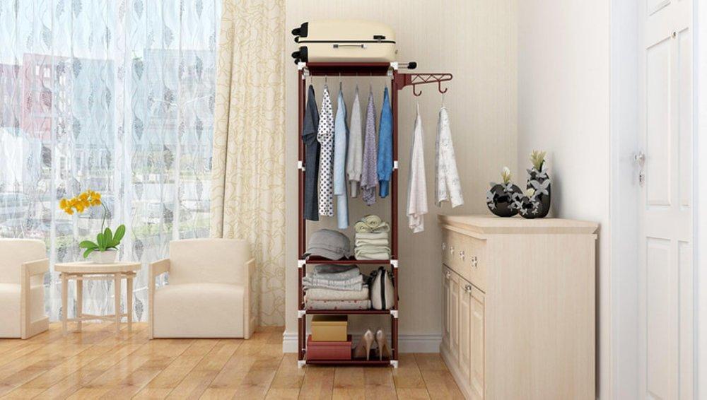 Grosir Station - Stand hanger rak lemari pakaian serbaguna tanpa cover