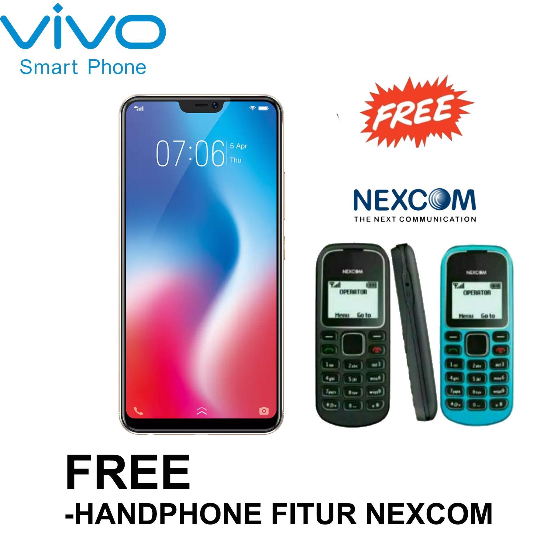 Vivo V9 - 4/64GB - 24/16+5MP - Garansi Resmi - Free HP FITUR