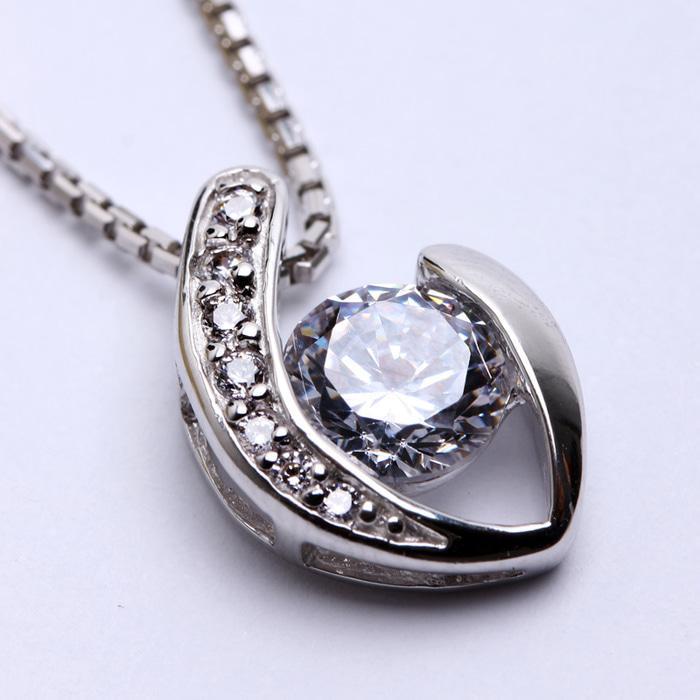 Kalung Perak EMAS PUTIH ASLI KOREA - WG 393 (Garansi 6 Bulan)