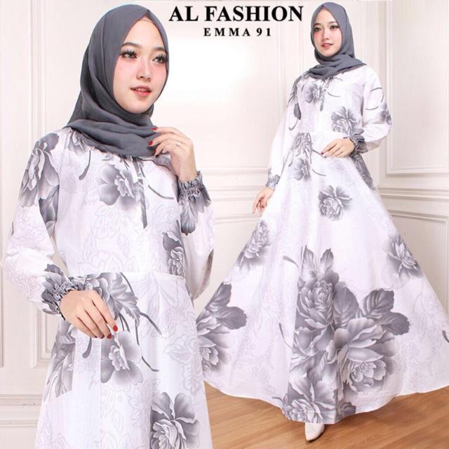 Gamis Wanita  MAXI EMMA motif bunga gamis perempuan terbaru busana pesta wanita muslim party dre