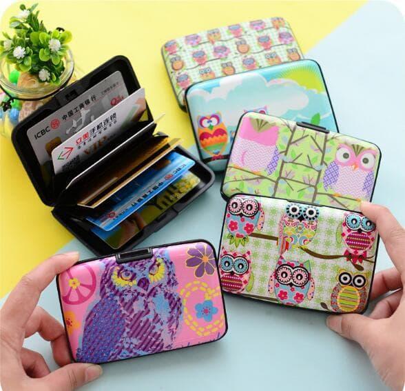 PROMO TERKINI Dompet / Tempat kartu card holder gambar OWL dan kawan2 korean style TERLARIS