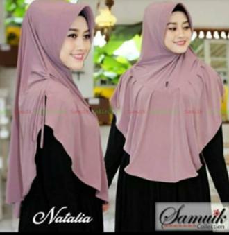 Hijab/Jilbab Instan Model Bergo terbaru termurah dan Terlaris  / Kerudung Wanita Jersey Rempel Natalia / Dedek Jaya