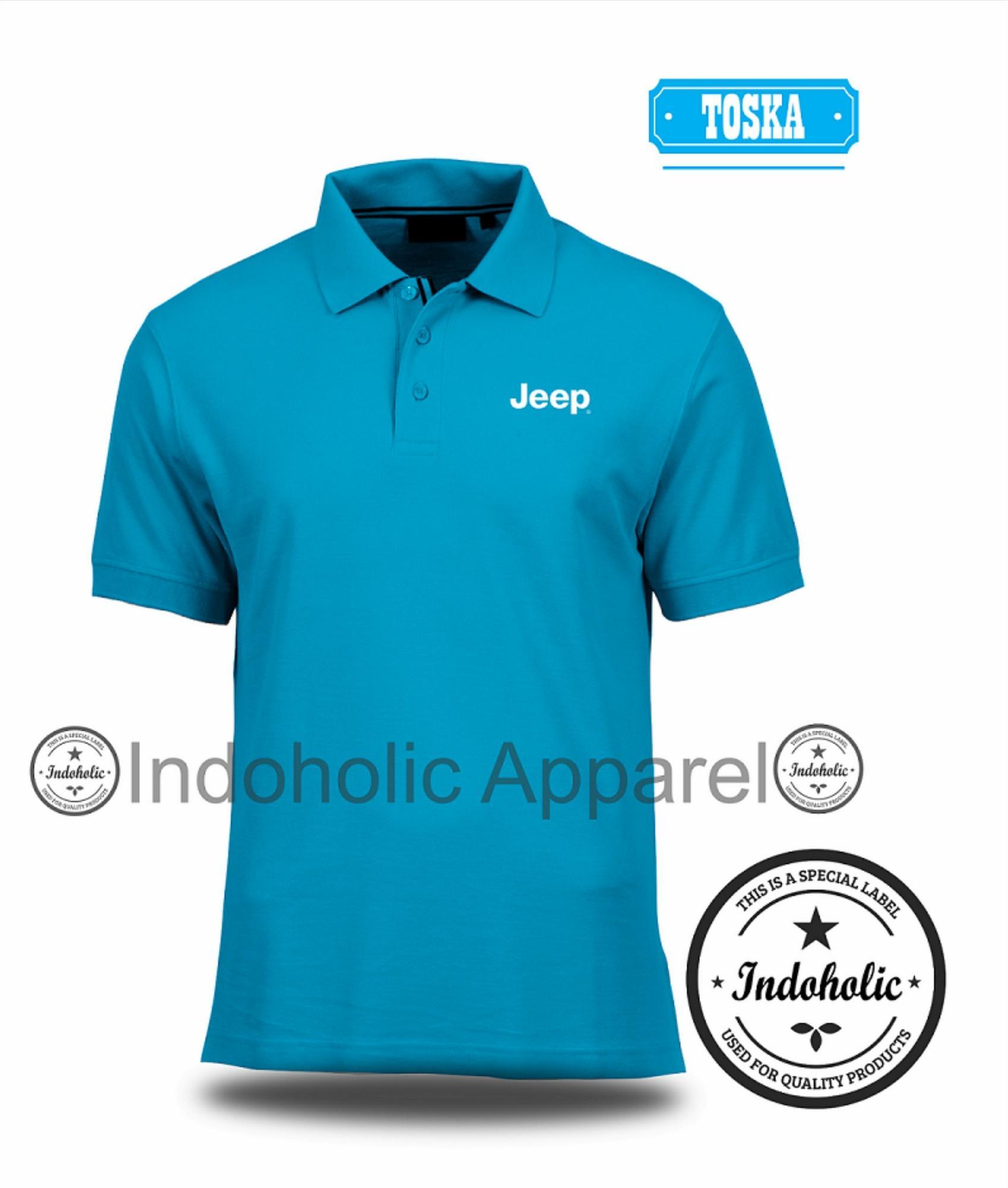 Polo Shirt Kaos Distro Mobil Sport Jeep Branded T-Shirt Fashion Pria Wanita Cowok Cewek Baju T-Shir