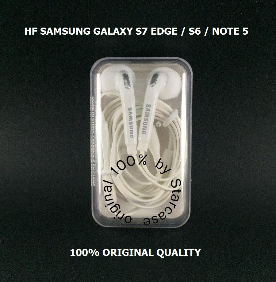 100% ORIGINAL SAMSUNG HEADSET GALAXY S7 EDGE / S6 / GALAXY NOTE 5 ( EO-EG920BW ) - WHITE