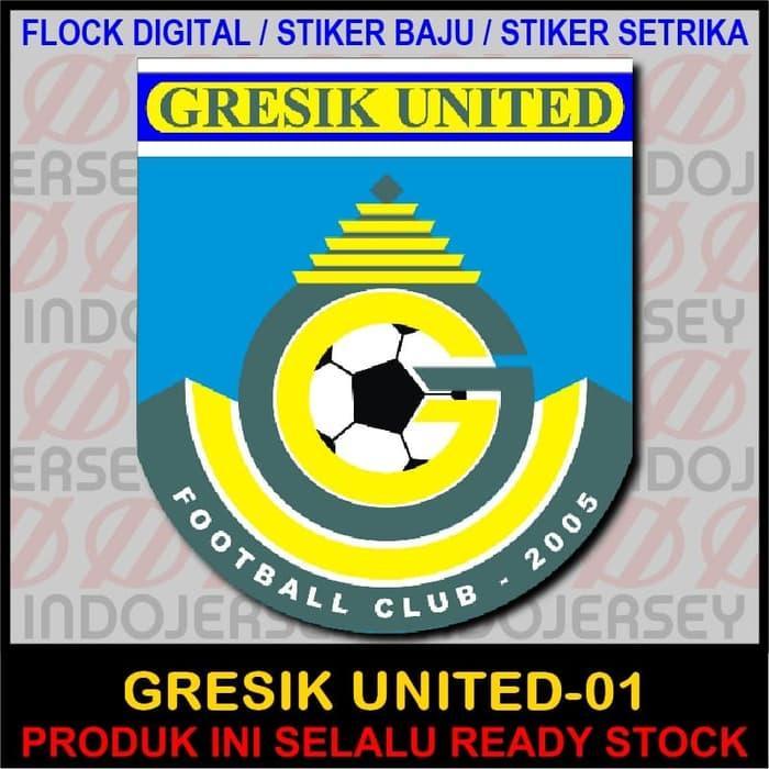 Harga Spesial!! Patch Flock Setrika - Logo Indonesia - Gresik United 01 - ready stock