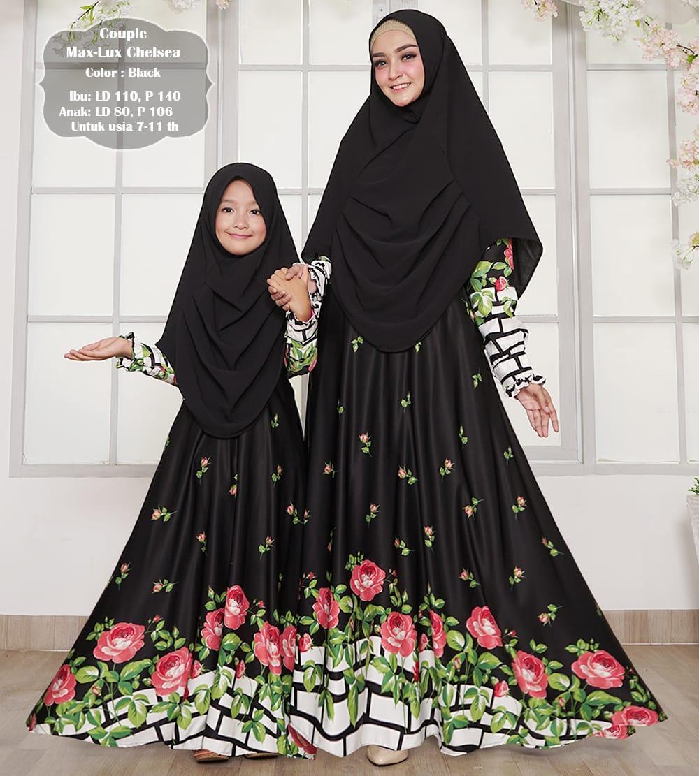 Afifahstore Gamis Muslim Syari Couple Ibu dan Anak Dress Hijab Muslimah Atasan Wanita Maxmara Couple Chelsea
