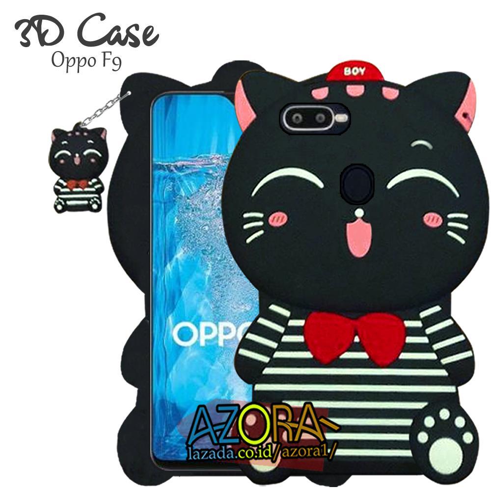 3D Case Oppo F9 2018 Softcase 4D Karakter Boneka Hello Kitty Doraemon Lucu Character Cartoon