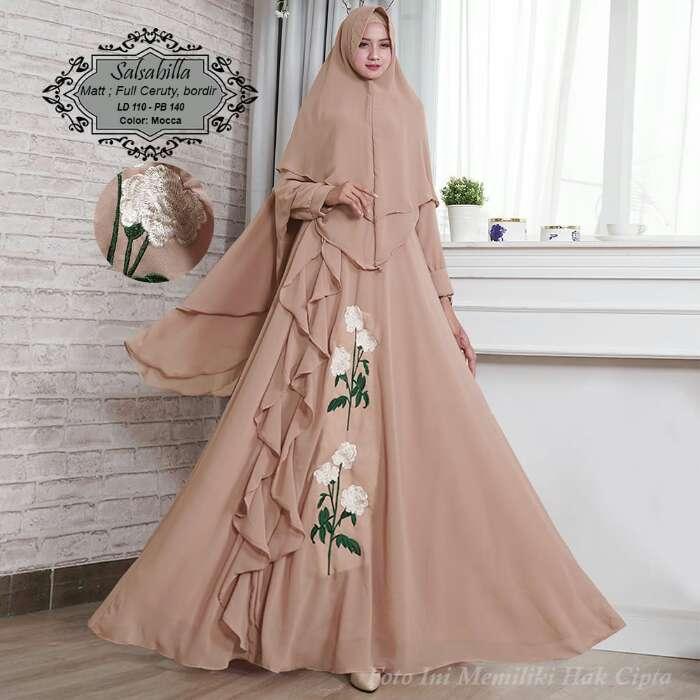 Humaira99 Baju Gamis Syari Muslim Dress Hijab Muslimah Atasan Wanita Long Dress Busui Terbaru Terlaris Ceruty