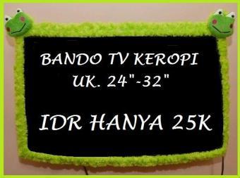Pencari Harga Bando TV KEROPI  Sarung TV 32 Inchi KEROPI Hijau Bahan Bulu Halus  Berkualitas 636ab18fcc