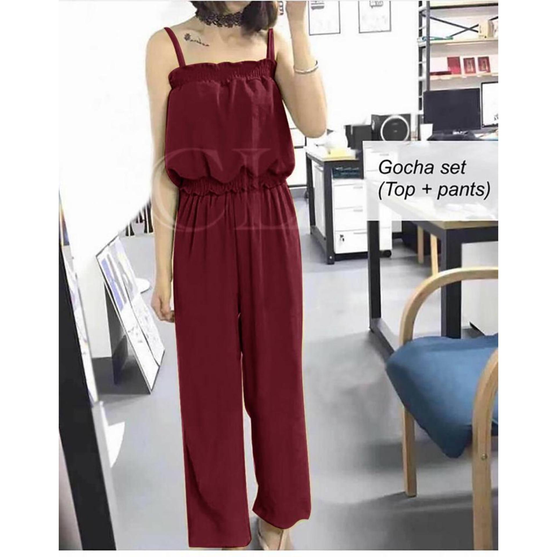 Jual Ch Pakaian Kemeja Jeans Rok Baju Busana Kaos Atasan Untuk Cewe Setelan Kodok Panda 1125 Fashion Hunter Set Wanita Pantai Casual Party Jumsuit
