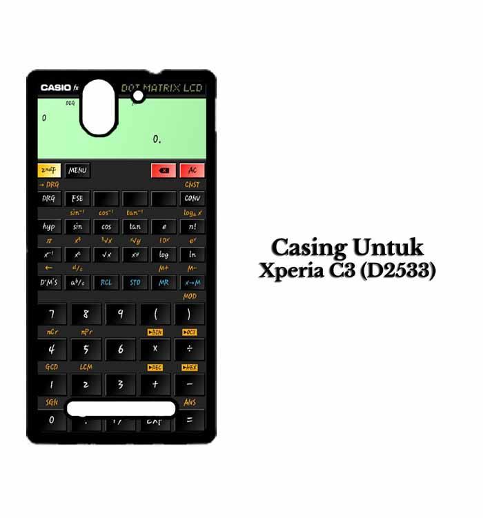 Casing Xperia C3 (D2533) kalkulator fix Custom Hard Case Cover