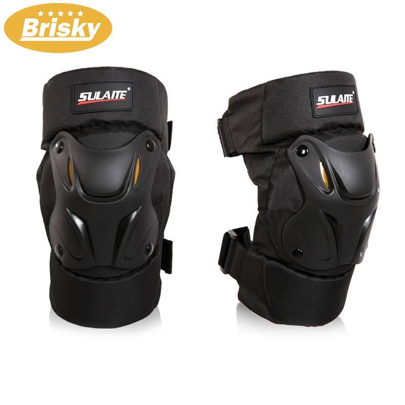 Brisky 1pair Black Motorcycle Motocross Racing Knee Pads Off Road Gear Protector By Brisky.