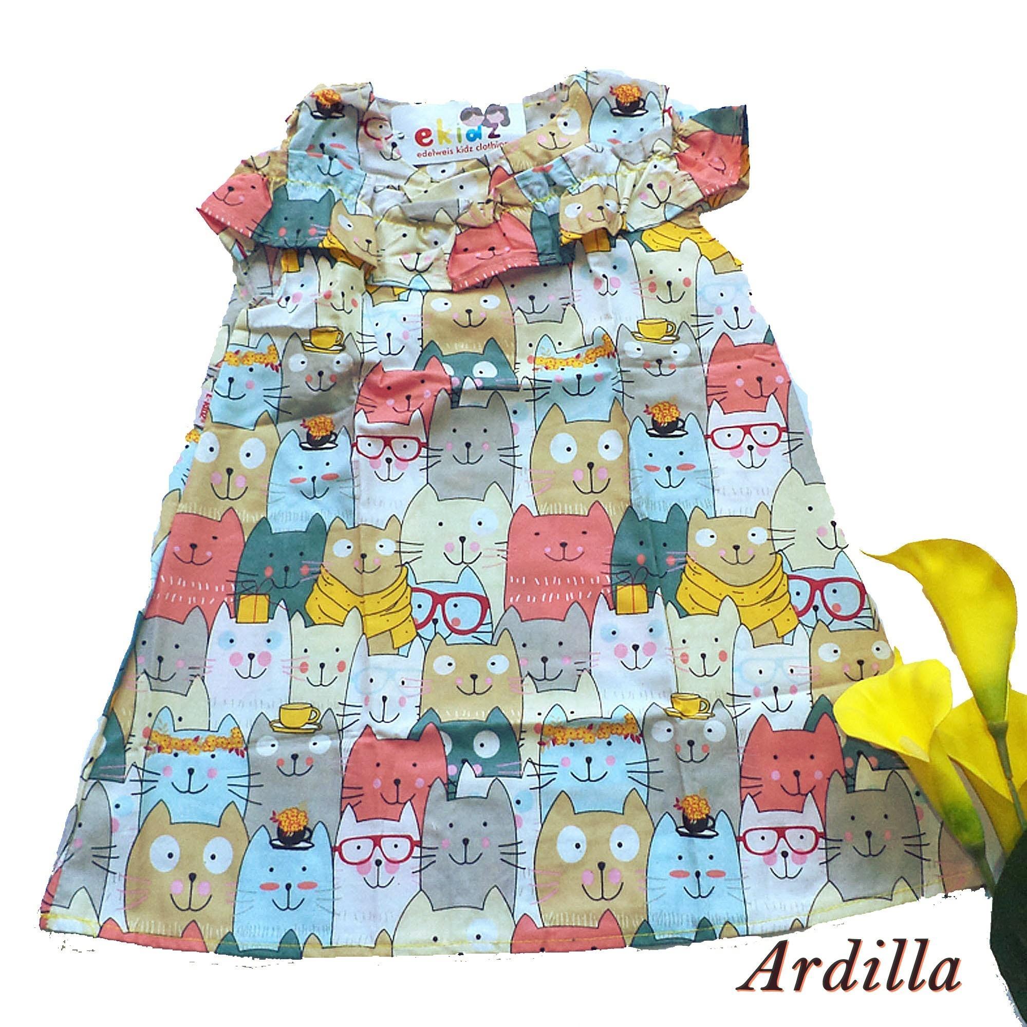 Grosir Baju Anak Ekidz Distributor Kaos Agen Dress Perempuan Motif Cat Ardilla By Pakaian