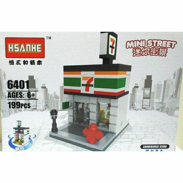 Mainan Anak HSANHE MINI STREET LEGO BRICKS SEVEEN ELEPEN 6401