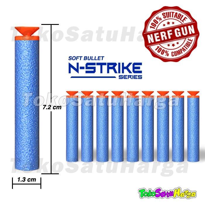 TSH Peluru Pistol Mirip Nerf Soft bullet bisa u Nerf 10 pcs