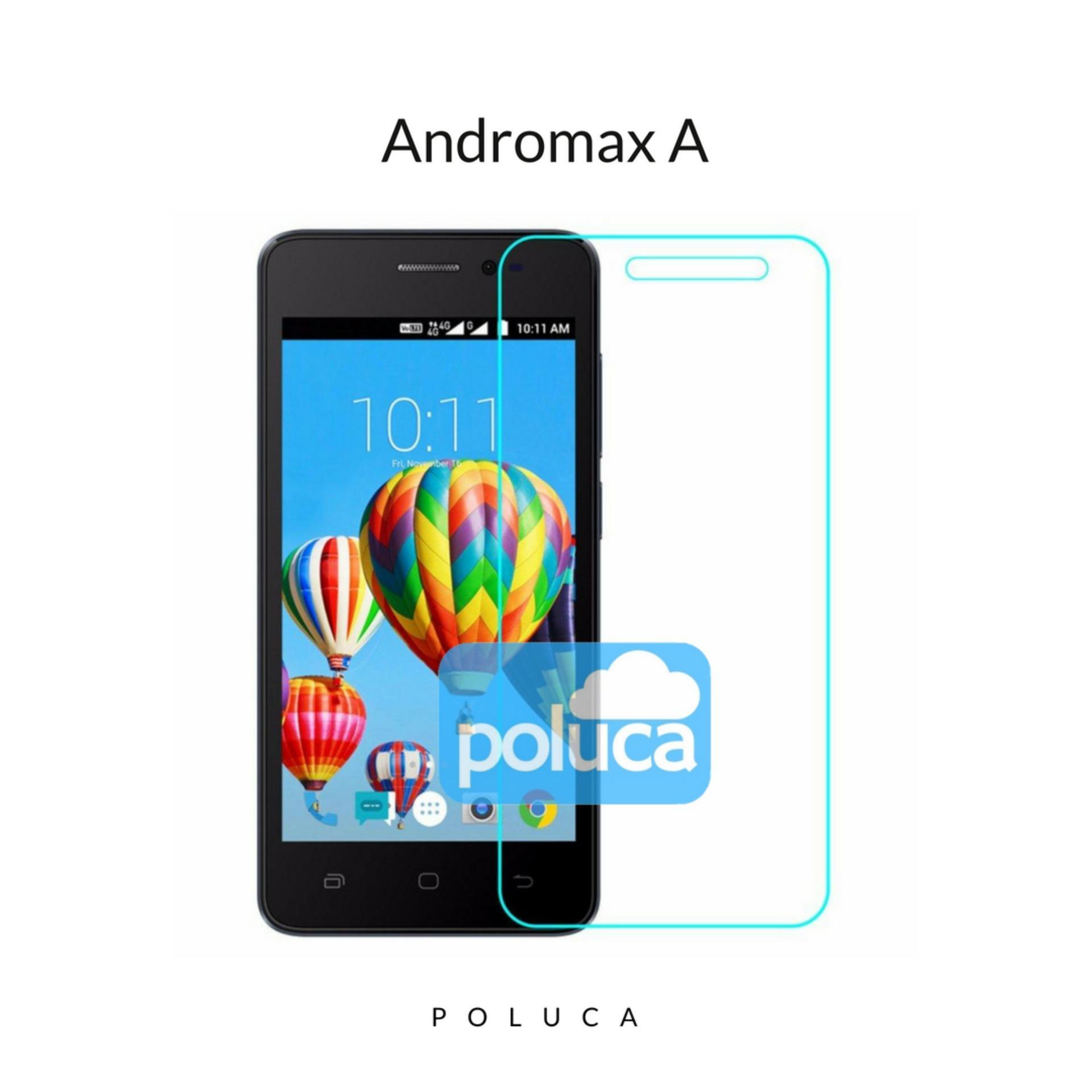 Poluca Tempered Glass Screen Protector Anti Gores Kaca Smartfren Andromax A - Clear