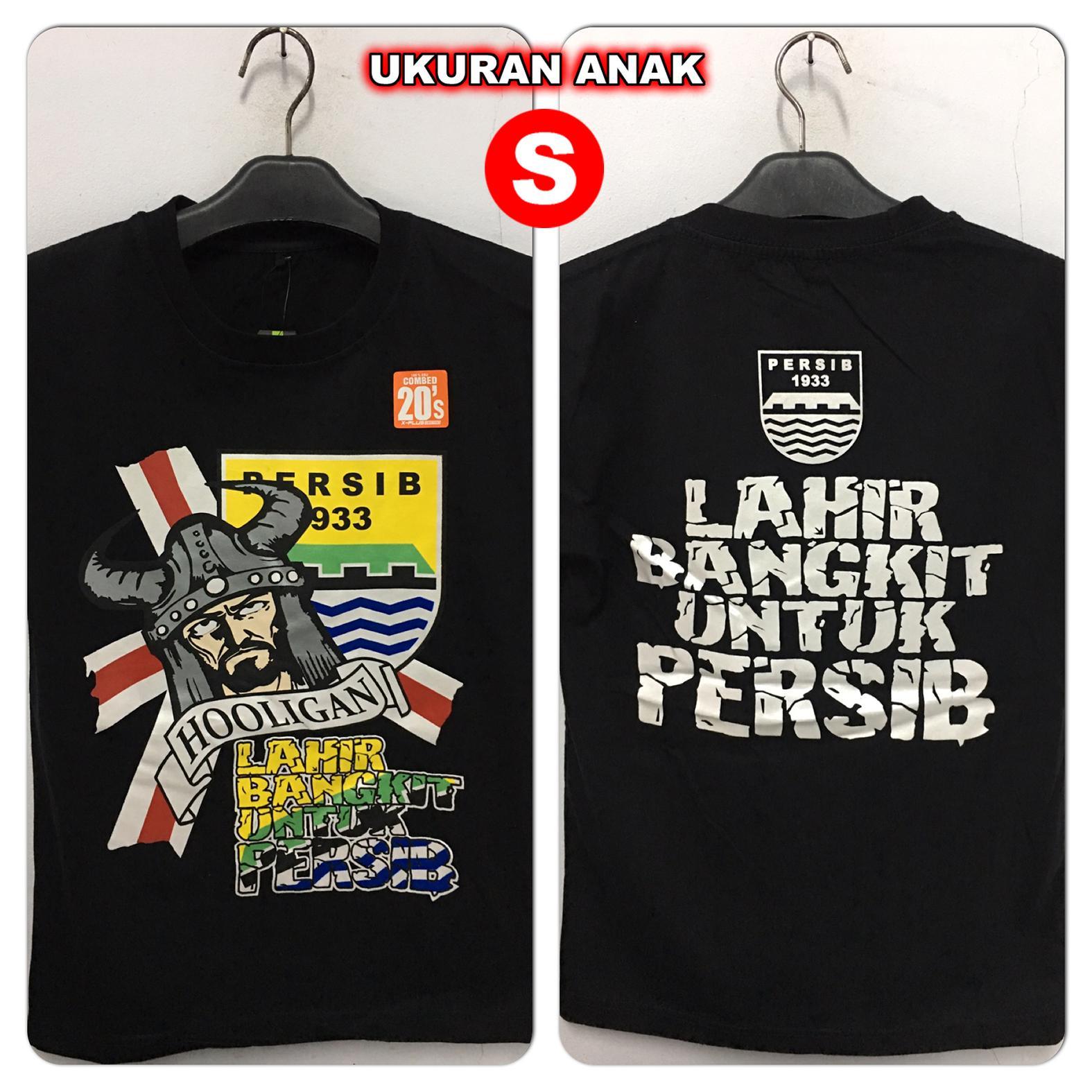 Kaos Distro Anak PERSIB HOOLIGAN BANGKIT BLACK (S)