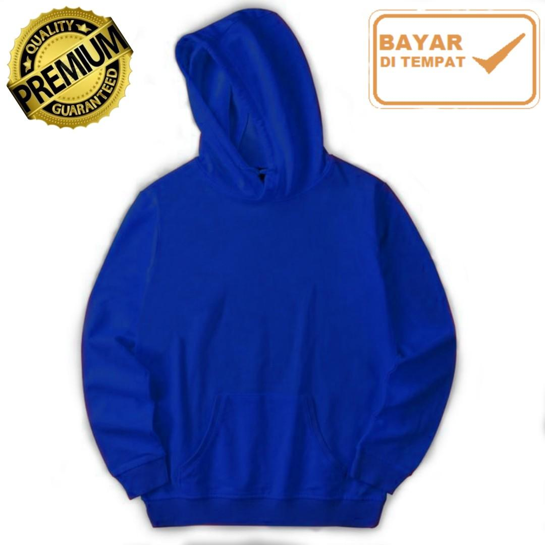 Jaket Polos Premium Jumper (Tanpa Resleting) Hoodie - Pria/Wanita