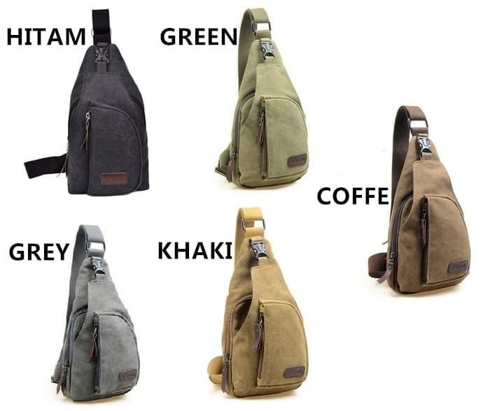 Tas selempang tas sl empang pria sling bag backpack kanvas FLISH / Aneka Tas Salempang Pria Terbaru Murah / Tas Salempang Keren Terlaris