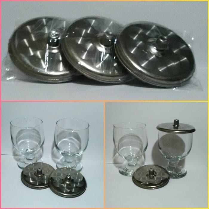 Best Top Seller Tutup Gelas Stainless Uk 9Cm Set 6Pcs Stainless Motif ready stock