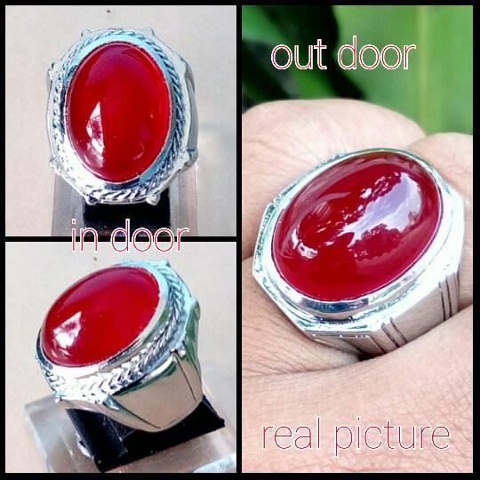 NEW Promo Perhiasan BATU CINCIN AKIK RED BARON TOP QUALITY Murah
