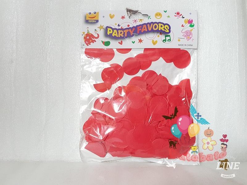 Confetti Tabur Manik Manik Kertas Motif Bulat Kuning / Kertas Tabur