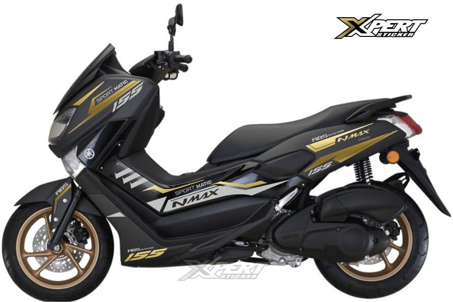 ME Cutting Sticker - for YAMAHA NMAX - LAZADA Prioritas – Silver Gold
