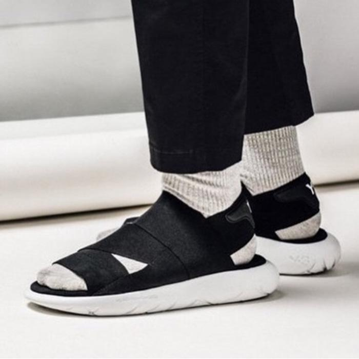 Murah -  Adidas Y3 Qasa Yamamoto Sandals Black White Premium OR