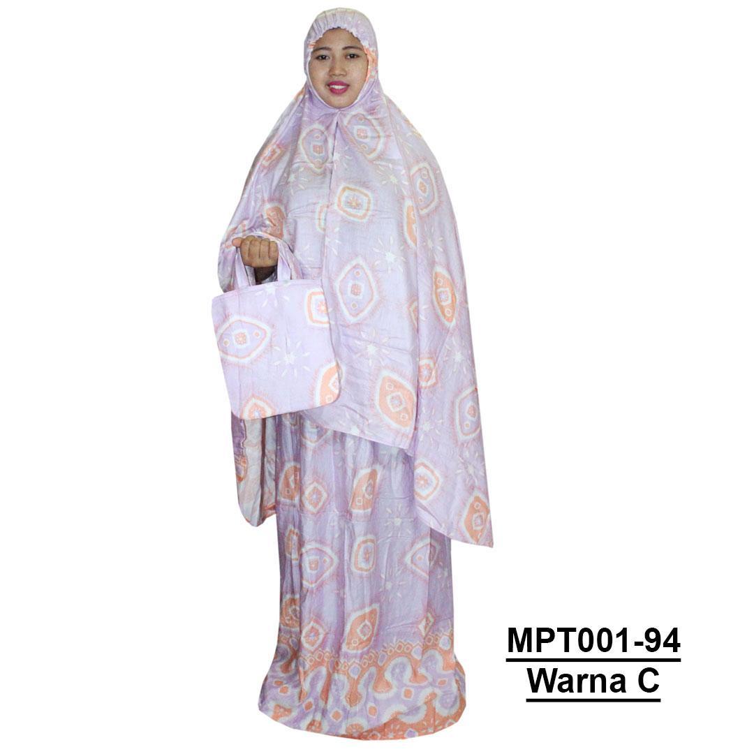 Mukena Bali, Mukena Batik, Mukena Dewasa Bahan Rayon (MPT001-94) Batik Alhadi